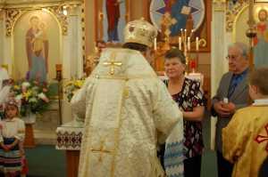 Centennial - Trustees Greet Bishop
