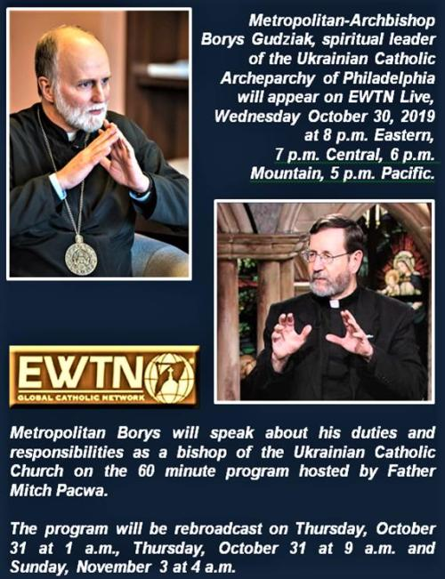 EWTN Gudziak October 2019